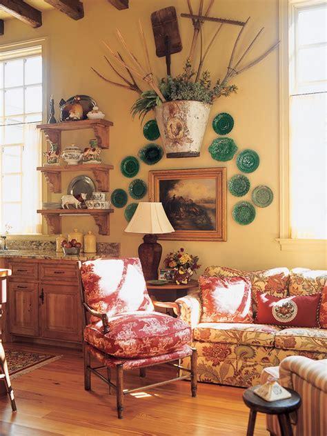 sitting area  tuscan style kitchen hgtv