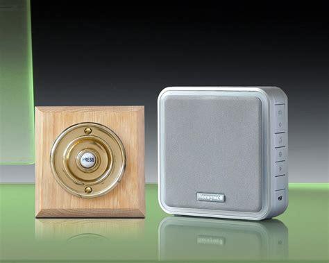 wireless door bells honeywell 200m wireless doorbell kit brass push