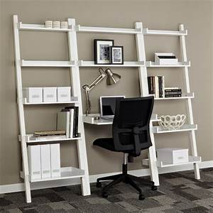White Linea Leaning Bookshelf The Container Store