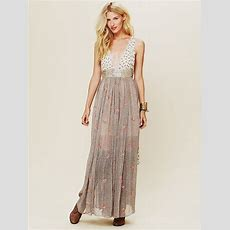 Free People Fp New Romantics Pennies From Heaven Dress In Gray (cream) Lyst