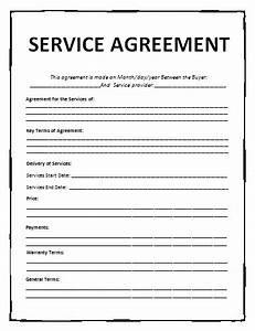General contract for services template free printable for General service agreement template free