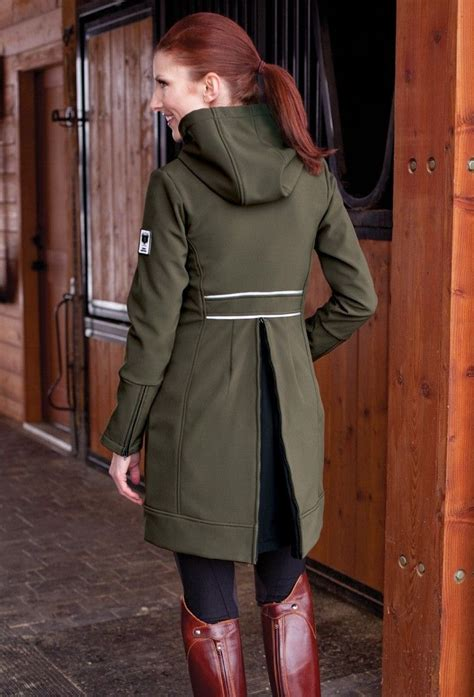 horse riding equestrian coat jacket rider asmar apparel rain horses clothes weather outfits shows outfit chic staple boots coats olive