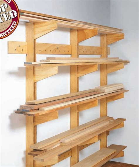lumber storage rack wall mounted woodworking projects
