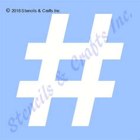 hashtag stencil shapes symbol template craft art paint
