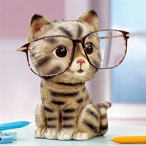 cat ornaments glasses holder creative home furnishing gift