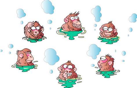 japanese macaque clipart   designlooter