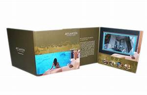 a5 customized rechargeable digital video brochure for With digital video wedding invitations