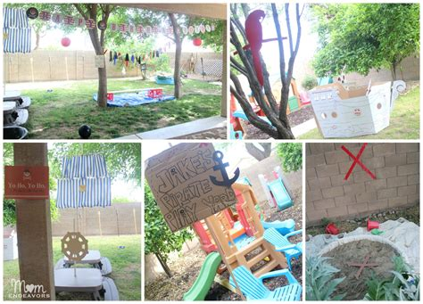 diy outdoor decorations yard jake and the never land pirates birthday party