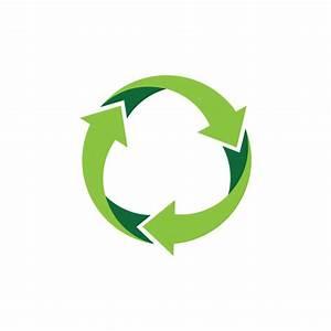 Recycle logo or icon vector design Vector   Premium Download