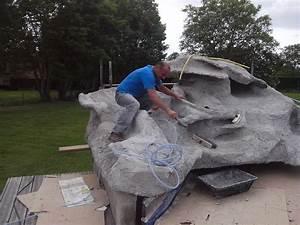 cuisine sculpture de faux rochers en mortier teintac avec With decoration bassin de jardin 9 une piscine avec faux rochers decoratifs