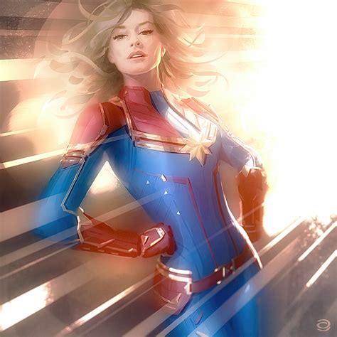 women, Captain Marvel, fantasy girl, artwork ...
