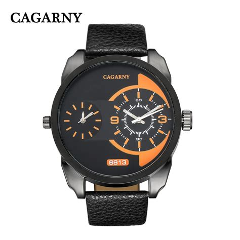 cagarny multiple time zone big dial watches men luxury