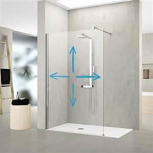 Paroi De Douche Sur Mesure : acheter une paroi de douche fixe transparente sur mesure ~ Nature-et-papiers.com Idées de Décoration