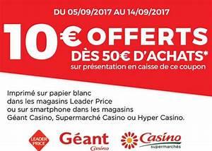 Bon De Reduction Lustucru : leader price casino 10 de r duction pour 50 d 39 achats ~ Maxctalentgroup.com Avis de Voitures