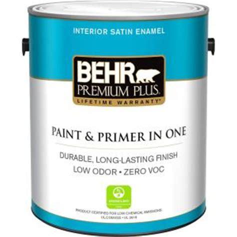 Home Depot Interior Paint Brands by Behr Premium Plus 1 Gal Medium Base Satin Enamel Zero Voc