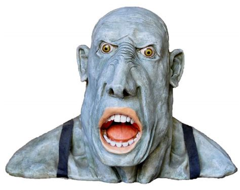 signed peter mook sculpture gobsmacked depicting  scary