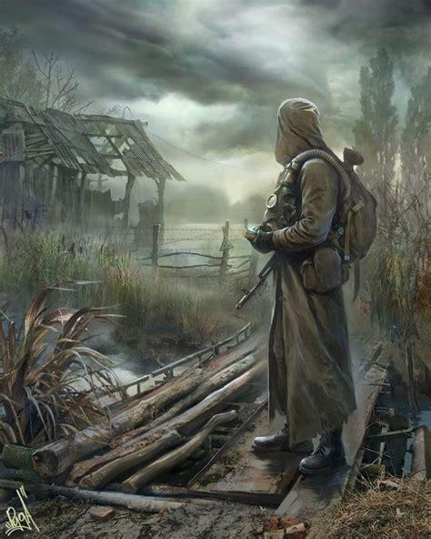 swamp deviantart stalker apocalypse leaves apocalyptic chernobyl soldier fantasy dark zombie concept cyberpunk zombies 2033 mask kalashnikov metro gas preppers