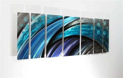 Large Metal Wall Art Sculpture Abstract Wave Painting