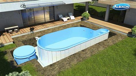 Pool In Erde Einbauen by Pool Aufbau