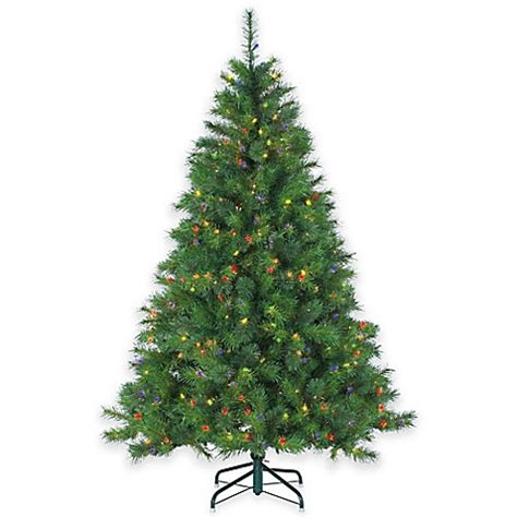 wisconsin spruce 6 5 foot pre lit christmas tree with