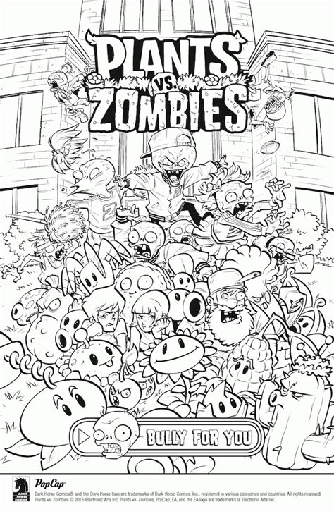 plants  zombies printable coloring pages coloring home
