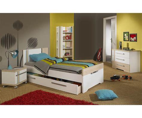 chambres enfants chambre enfant bora blanche et bois set de 4 meubles