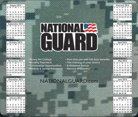 school year camo calendar mouse pad national guard recruiter