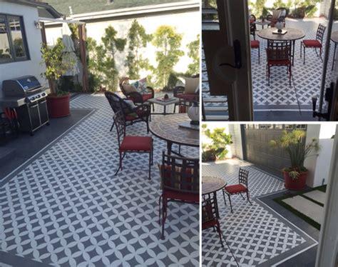 learn how to stencil a pretty patio 171 stencil stories