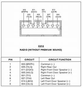 Wire Diagram For A Ford Cd Cassette Radio Model Number