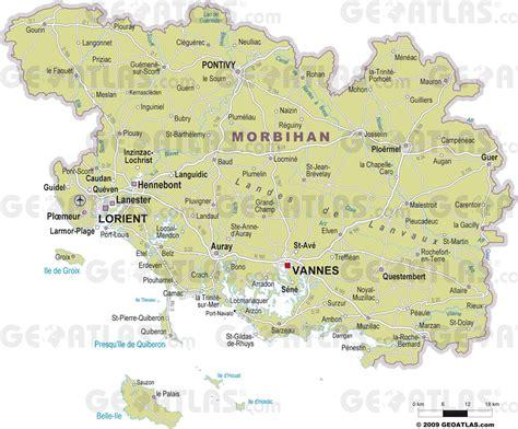 Carte Michelin Des Golfs En by Carte D 233 Taill 233 E Du Morbihan Voyages Cartes