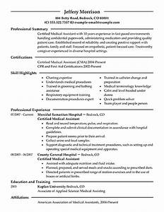 best medical assistant resume example livecareer With best medical assistant resume