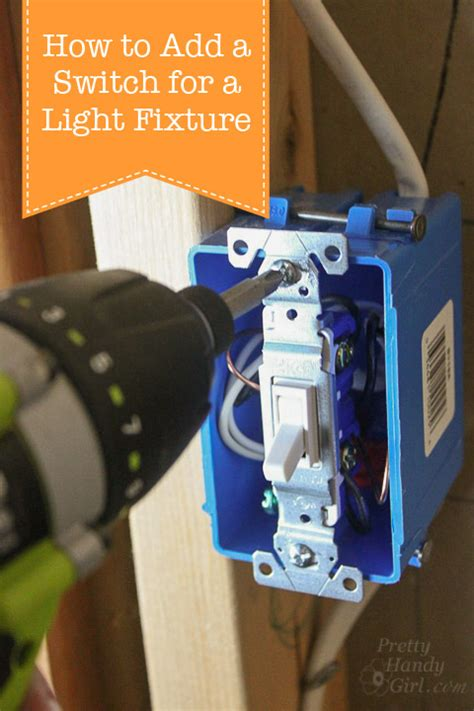 how to add a switch to a light fixture pretty handy