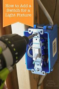 How To Add A Switch To A Light Fixture