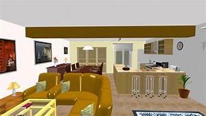 decoration salon salle a manger cuisine With idee deco cuisine avec salle À manger contemporaine complà te
