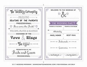 8 best images of printable wedding program templates free With free wedding brochure templates download