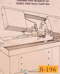 Ramco Rs90  Cut Off Saw  Instructions And Parts Manual