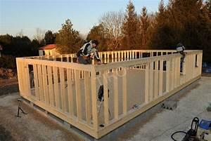 lisse haute ceinturage dune maison ossature bois With maison a finir soi meme 6 maison ossature bois en kit pour autoconstruction