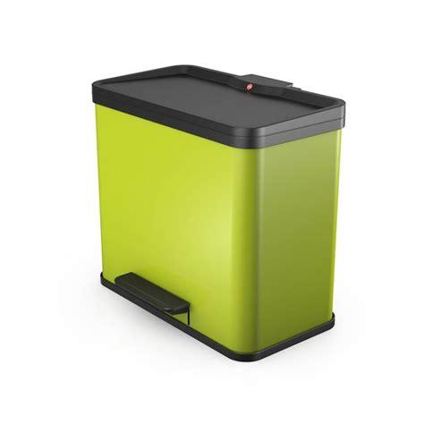 poubelle hailo cuisine poubelle tri selectif trento öko duo 19 11 litres