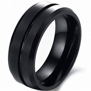 2018 latest matte black wedding bands With matte black wedding ring