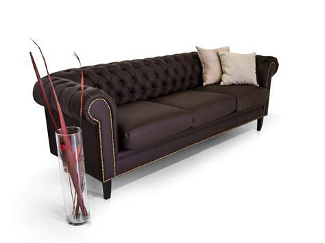 sofa kunstleder braun chesterfield 3 sitzer sofa santos kunstleder braun
