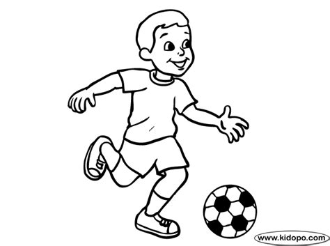 Boy Soccer Player 09 Coloring Page
