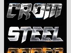 Shiny platinum metal text style Photoshop Styles free