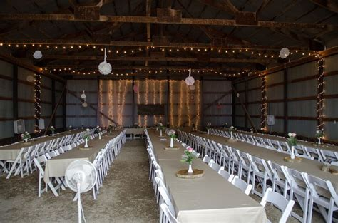 machine shed turned wedding hall barn decorating