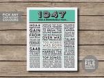 DIGITAL FILE - 1947 - Printable 70th Birthday Newspaper ...
