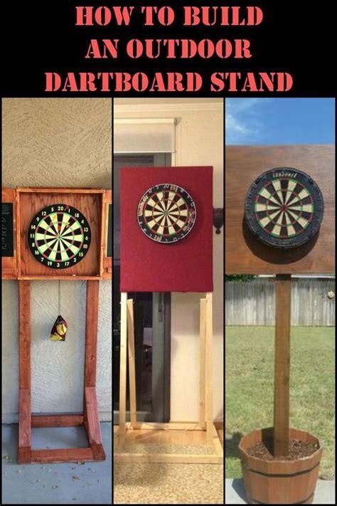 build  diy dartboard stand play outdoors  double  fun dart board diy furniture