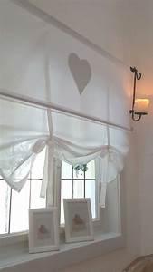 Fenster Gardinen Küche : le coeur grau gardine raffrollo 90 110 130 150 landhaus shabby vintage in m bel wohnen ~ Yasmunasinghe.com Haus und Dekorationen
