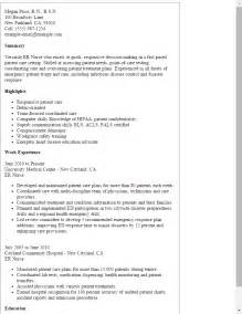 emergency room registered resume exles professional er templates to showcase your talent