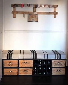 recup fabriquer un meuble avec des caisses de vin With meuble avec caisse de vin