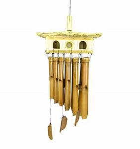 Carillon A Vent : grand carillon vent en bambou et nichoir maison paille ~ Melissatoandfro.com Idées de Décoration