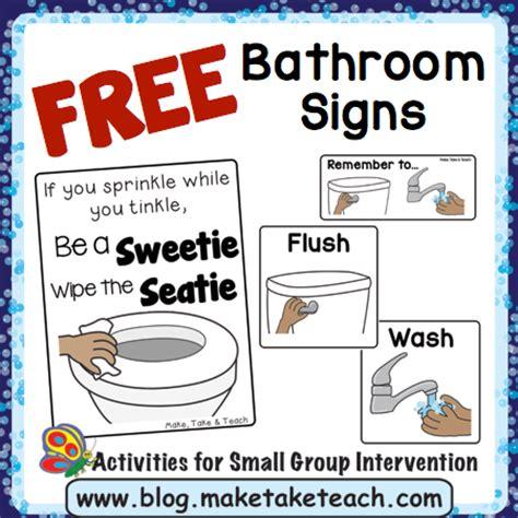bathroom visuals   teach